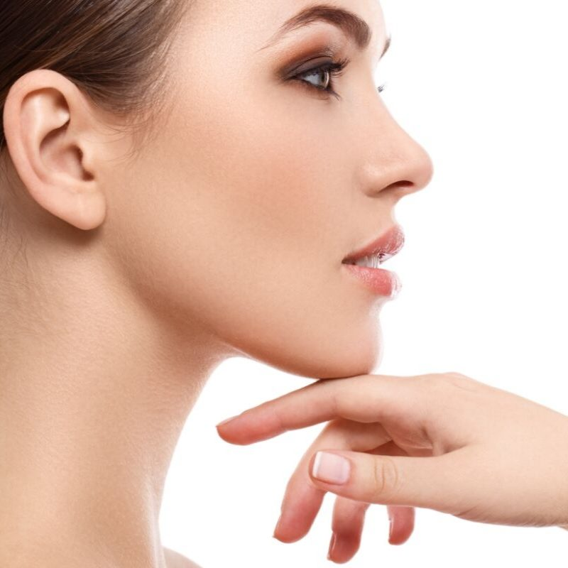 Women with clear skin. Double chin reducer procedures. SkinCare clinic. North Vancouver