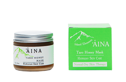 ʻĀina Taro Honey Mask is deliciously moisturizing and deeply conditioning. Hawaiian skin care. Normal-dry skin therapy