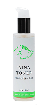 ʻĀina Toner for Normal Dry Skin. Hawaiian skin care. Normal-dry skin therapy